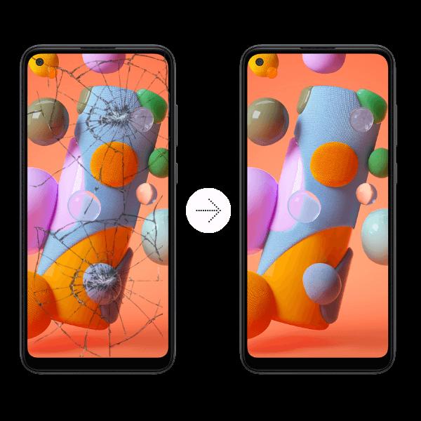 cambio de vidrio celular samsung
